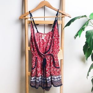 NEW Band of Gypsies   Boho Floral Romper